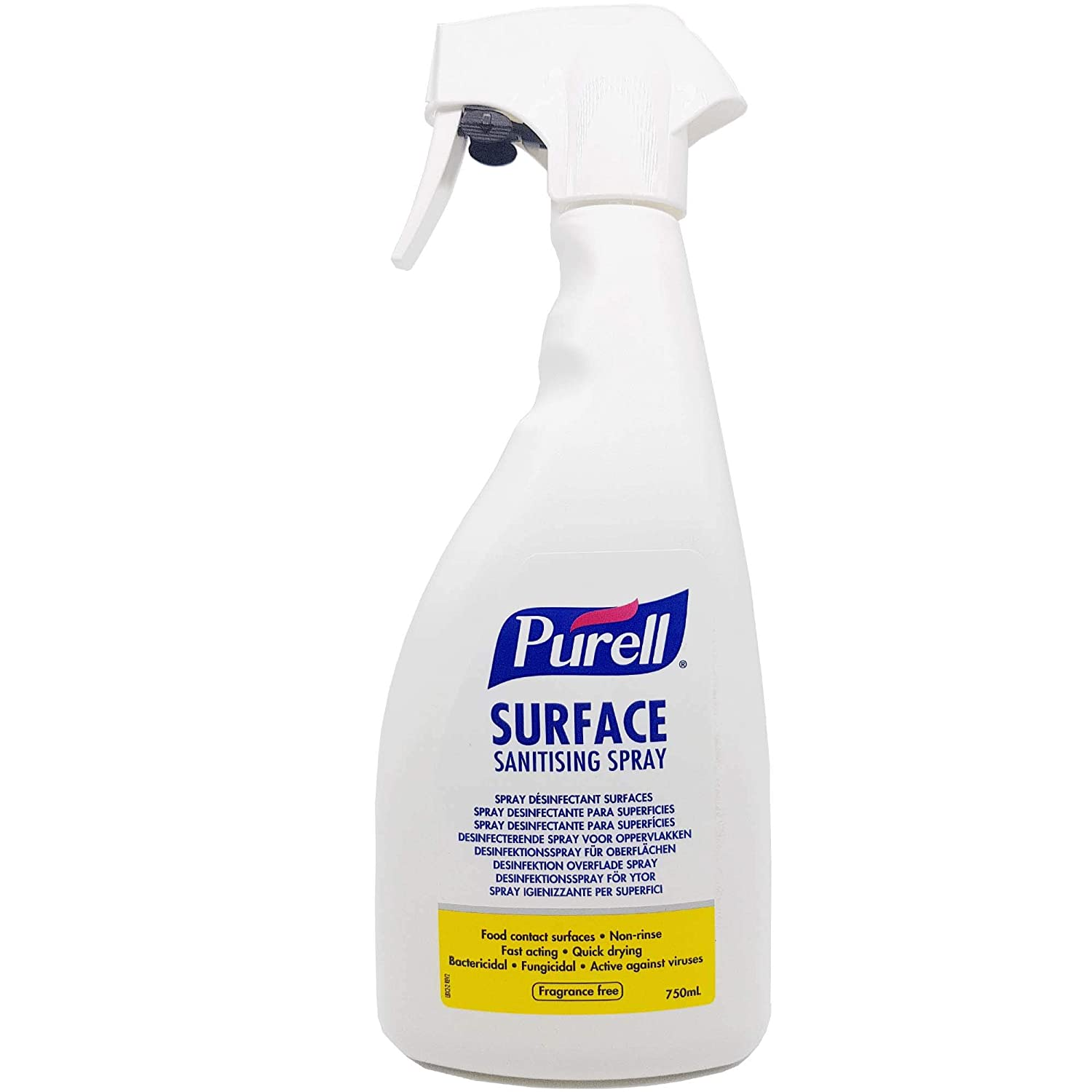spray desinfectant surface